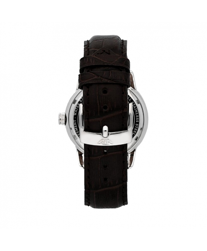 Philip Watch Kent 40mm auto silver dial brw strap ss uomo - galleria 2