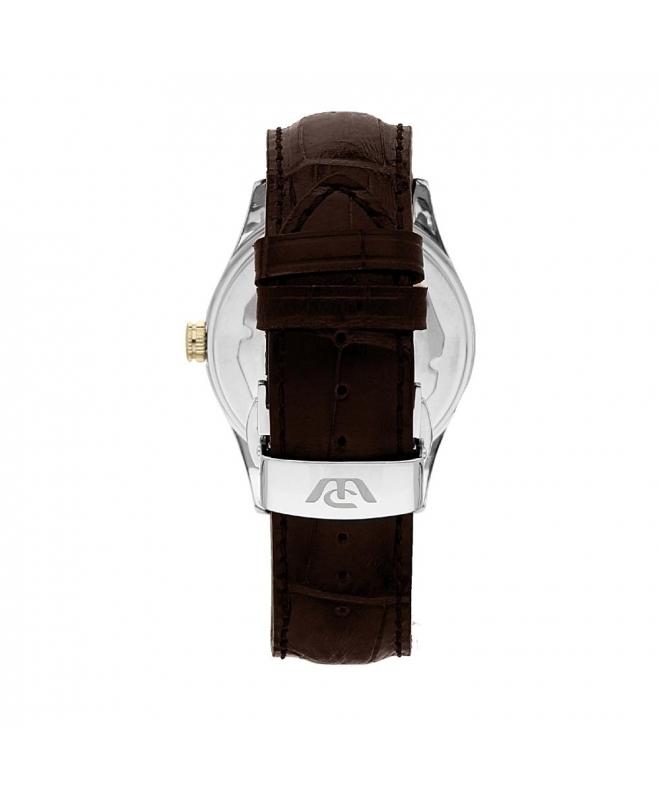 Philip Watch Sunray 3h auto-date silver d/brown st uomo - galleria 2