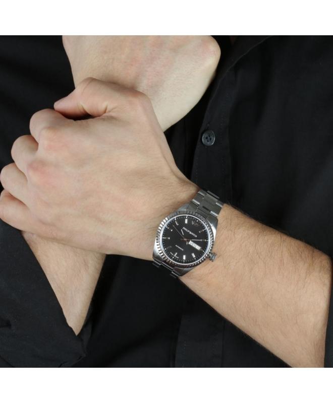 Philip Watch Caribe gent auto 3h black dial/brac uomo - galleria 3