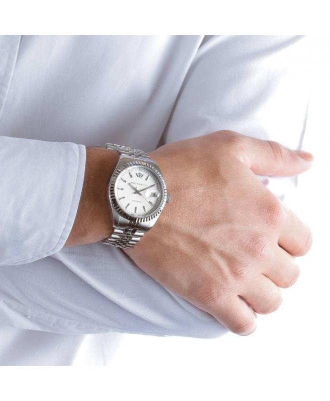Philip Watch Caribe auto white silver bracelet uomo R8223597009 - galleria 3