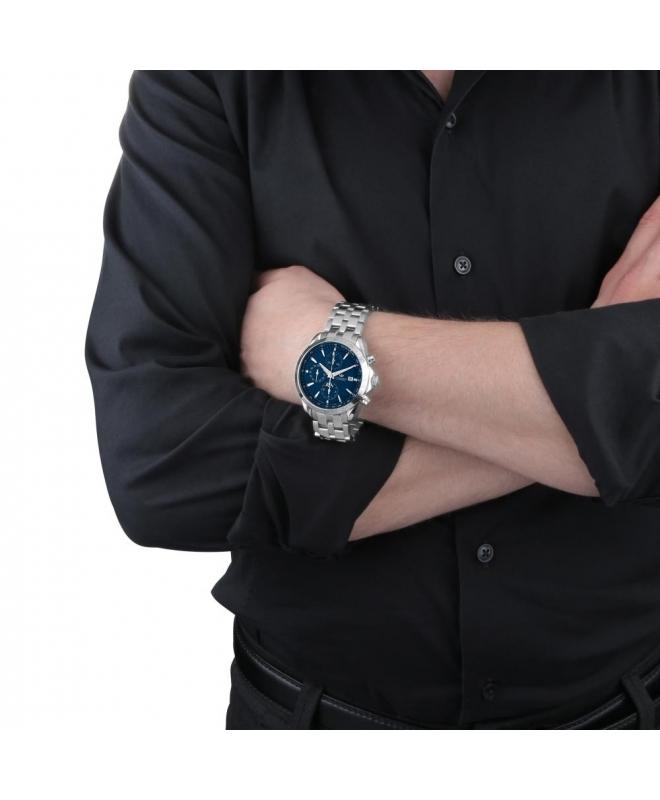 Philip Watch Blaze chr.aut.blue d.brac. uomo R8243995035 - galleria 2
