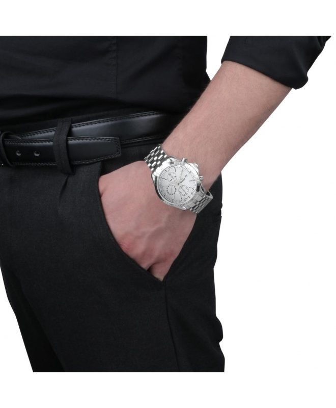 Philip Watch Blaze chr.aut.white dial / bracc uomo R8243995115 - galleria 2