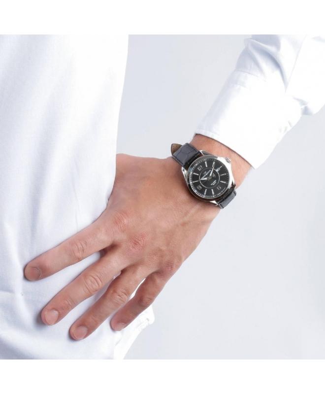 Philip Watch Blaze 3h black dial black strap uomo R8251165001 - galleria 3
