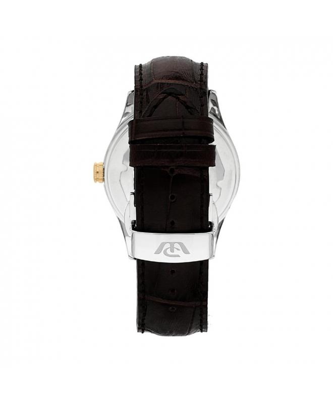 Philip Watch Sunray 39mm 3h white/s dial brown strap uomo - galleria 2