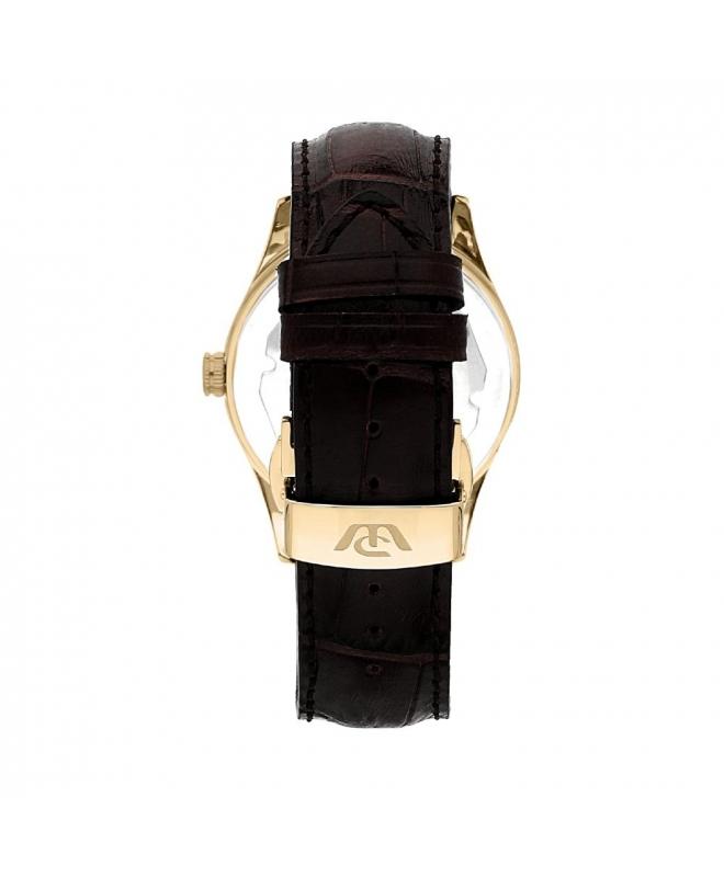 Philip Watch Sunray 39mm 3h grey dial brown strap yg uomo - galleria 2