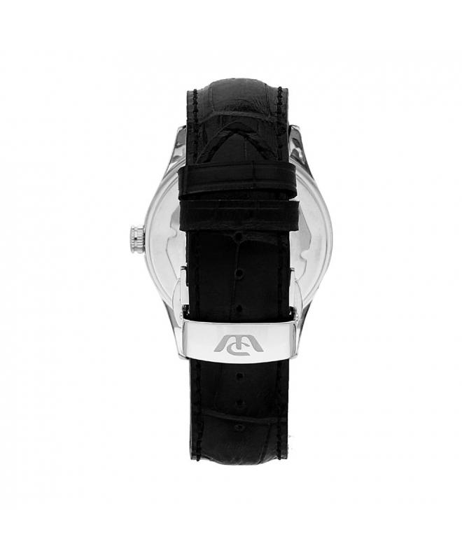 Philip Watch Sunray 39mm 3h grey dial black strap ss uomo - galleria 2