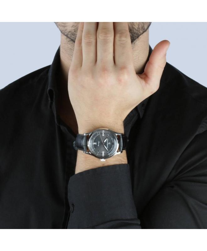 Philip Watch Sunray 39mm 3h grey dial black strap ss uomo - galleria 3