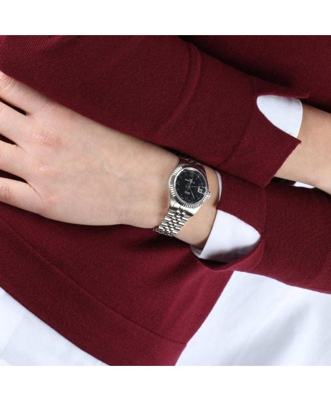 Philip Watch Caribe 3h dark blue dial /bracelet donna - galleria 3