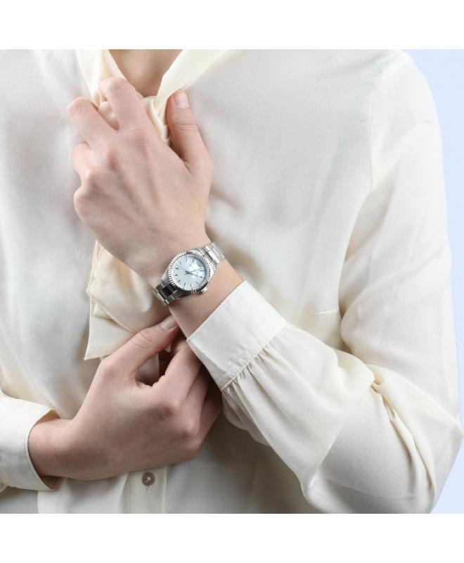 Philip Watch Caribe 3h white mop dial /bracelet donna - galleria 3