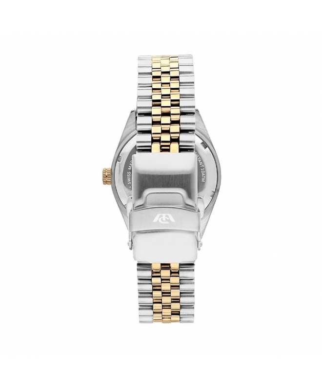 Philip Watch Caribe 3h white silver dial bracelet donna - galleria 2
