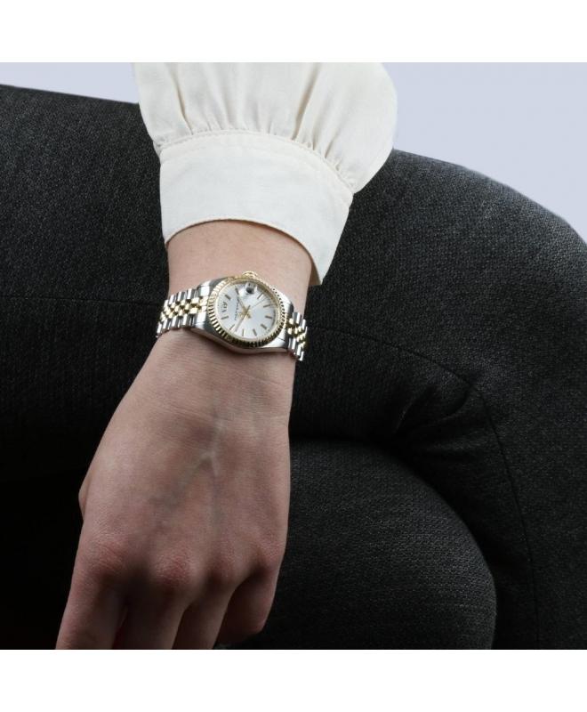 Philip Watch Caribe 3h white silver dial bracelet donna - galleria 3