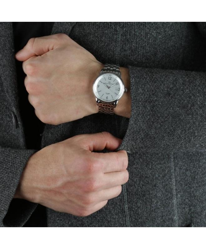 Philip Watch Kent 3h white mattt dial bracelet uomo R8253178005 - galleria 3
