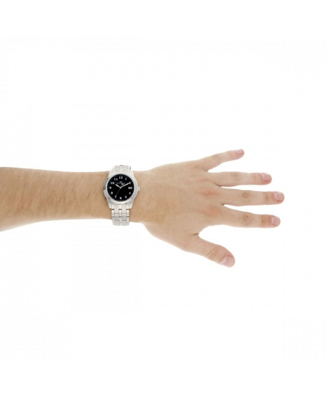 Philip Watch Timeless gent 38mm 3h black dial ss br uomo - galleria 3