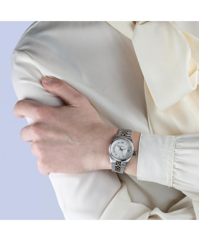 Philip Watch Caribe lady 3h silver/white dial brac donna - galleria 3