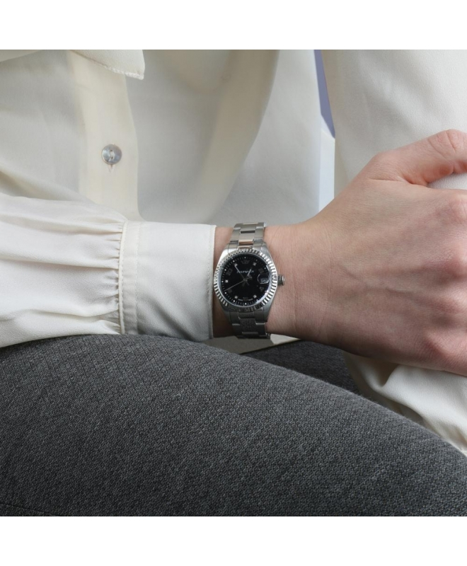 Philip Watch Caribe lady 3h black dial/brac donna R8253597504 - galleria 3