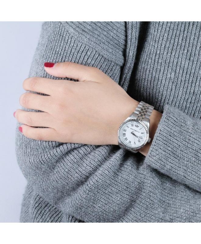 Philip Watch Caribe 35mm 3h white dial brac donna R8253597515 - galleria 3