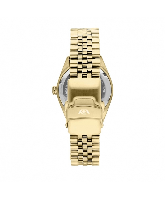 Philip Watch Caribe 31mm 3h w/diam beige dial br yg donna - galleria 2