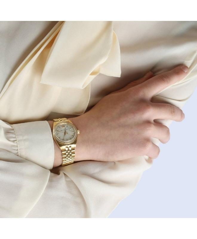 Philip Watch Caribe 31mm 3h w/diam beige dial br yg donna - galleria 3