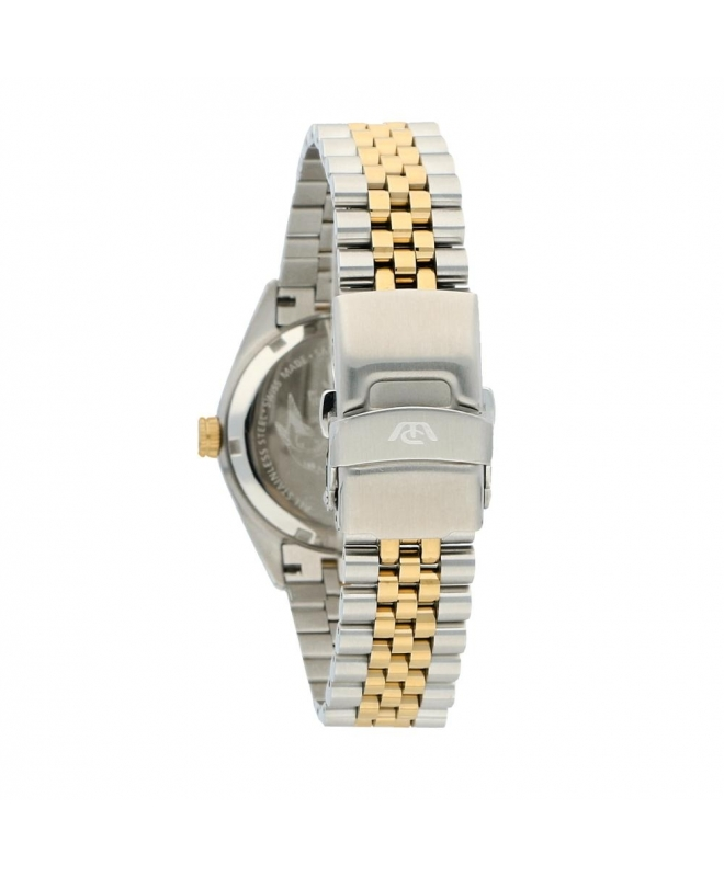 Philip Watch Caribe 35mm 3h silve dial w/dia br yg/ss donna - galleria 2