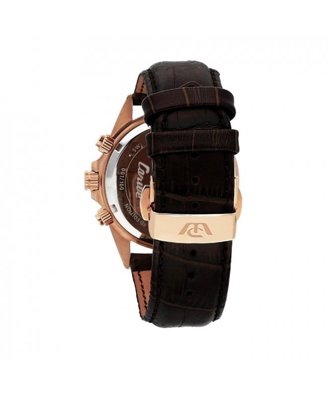 Philip Watch Caribe 42mm chr brown dial black st uomo - galleria 2