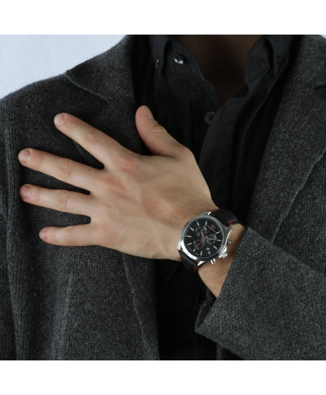 Philip Watch Blaze 41mm chr 6h black dial black strap uomo - galleria 3