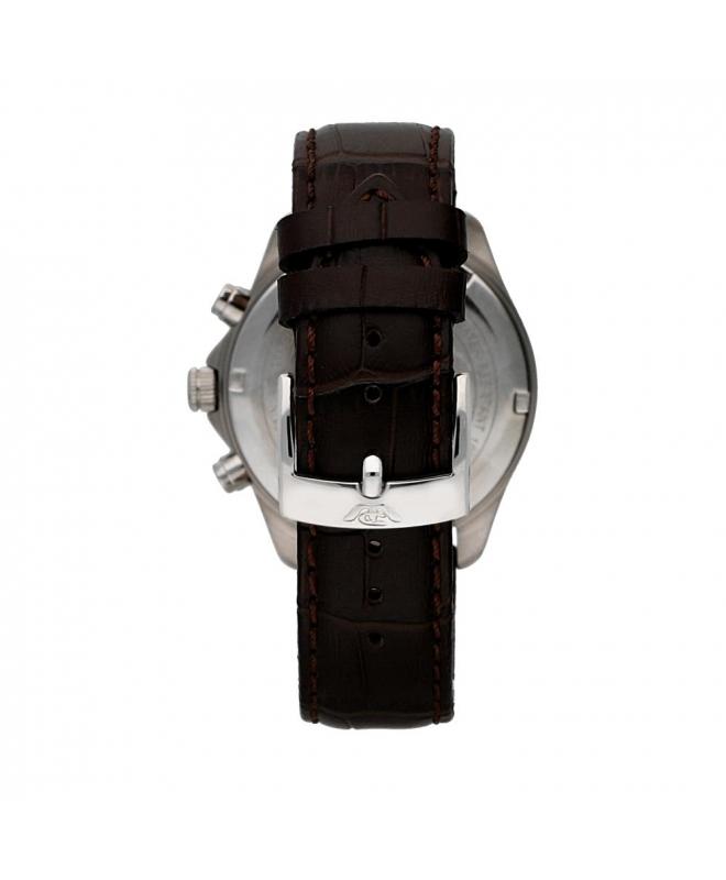 Philip Watch Blaze chr silver white dial/brown strap uomo - galleria 2