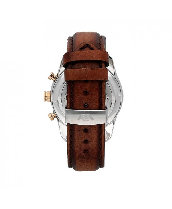 Philip Watch Seahorse chr yg details/brown strap uomo - galleria 2