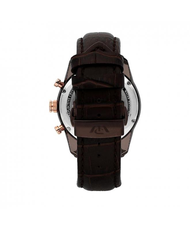 Philip Watch Seahorse chr 44mm brw dial brw str ip uomo - galleria 2