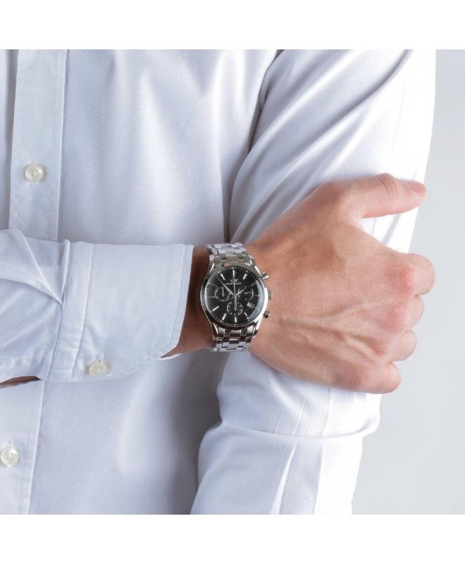 Philip Watch Sunray chr black dial/bracc uomo R8273908165 - galleria 3