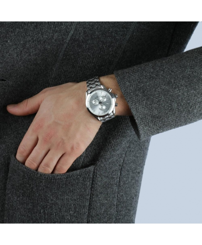 Philip Watch Blaze chr white silver dial bracelet uomo - galleria 3