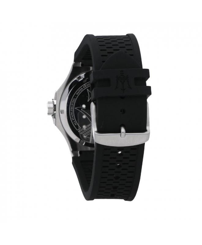 Maserati Potenza 45mm 3h silver dial black strap uomo - galleria 2