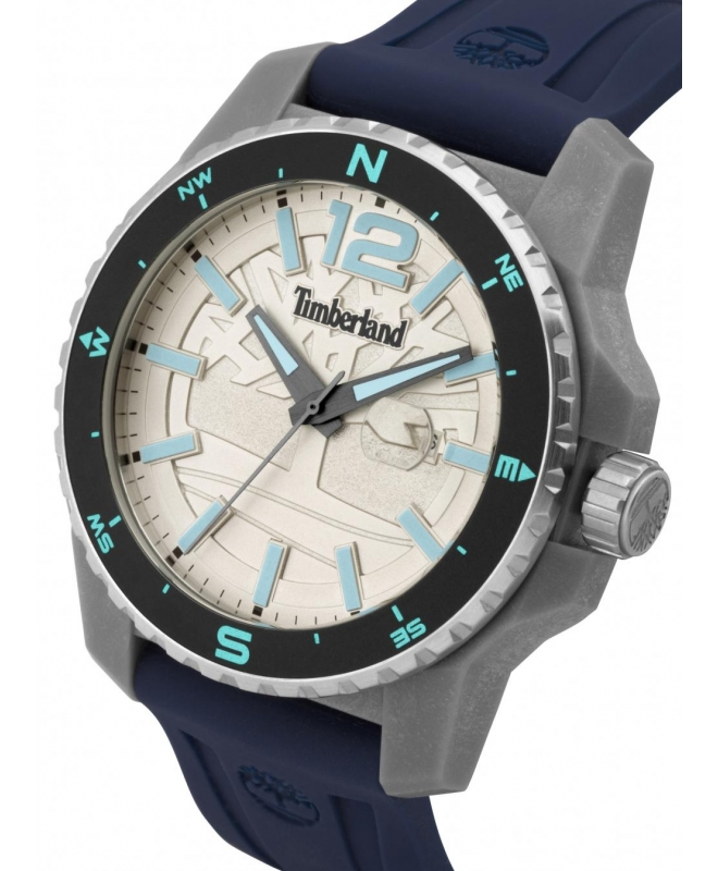 Timberland Westmore 3h beige dial blue silicon st - galleria 2
