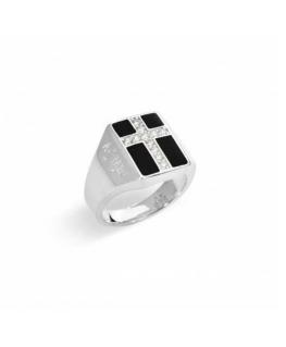 Anello Amen 'Croce' argento unisex