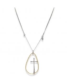 Collana Amen Croci donna argento / dorato