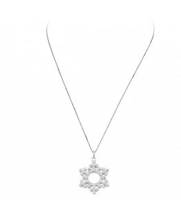 Collana Amen Corone argento cristalli bianchi