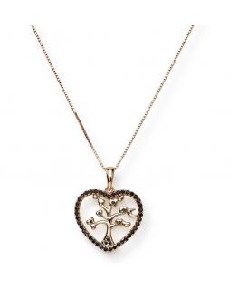 Collana Amen Albero della vita argento / oro rosa