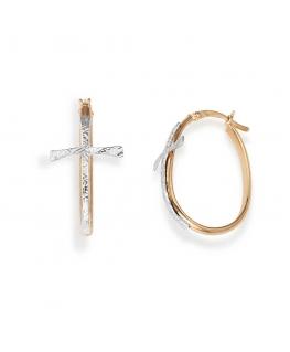 Orecchini Amen Croci argento / oro rosa