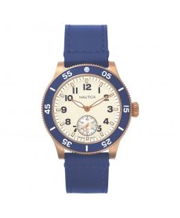 Orologio Nautica Huston uomo pelle blu