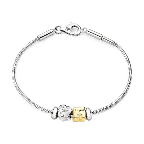 Bracciale Morellato Solomia argento 925 br. 2 beads donna SAFZ63