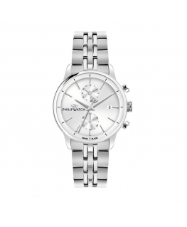 Philip Watch Anniversary 40mm chr wsilver dial br ss