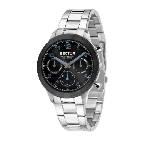 Sector 270 41mm multi black dial br ss