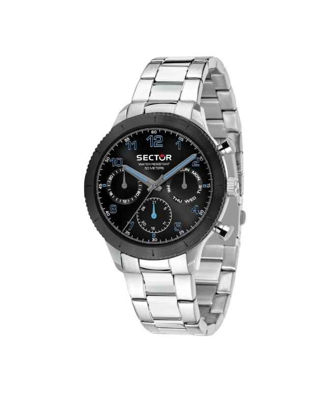 Sector 270 41mm multi black dial br ss - galleria 1