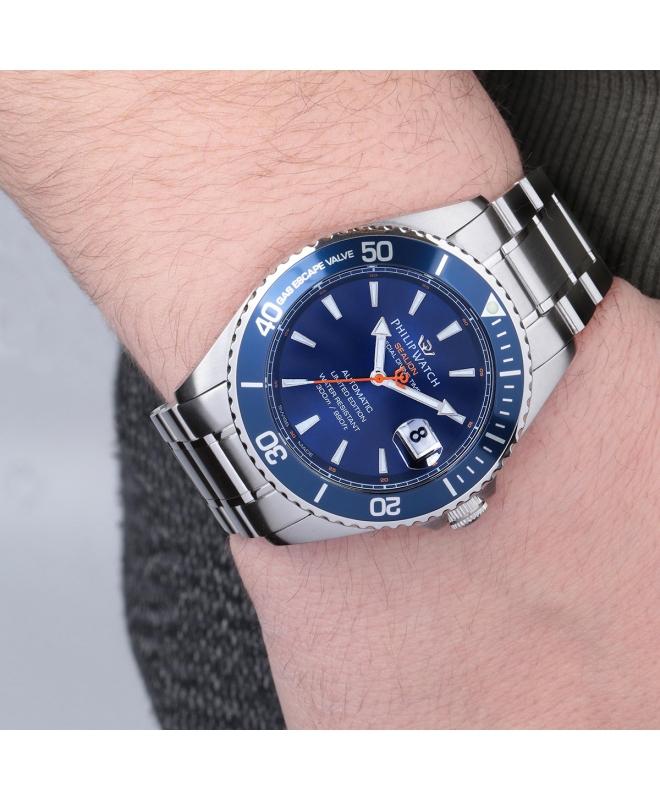 Orologio Philip Watch Sealion Automatico blu 42mm - galleria 2