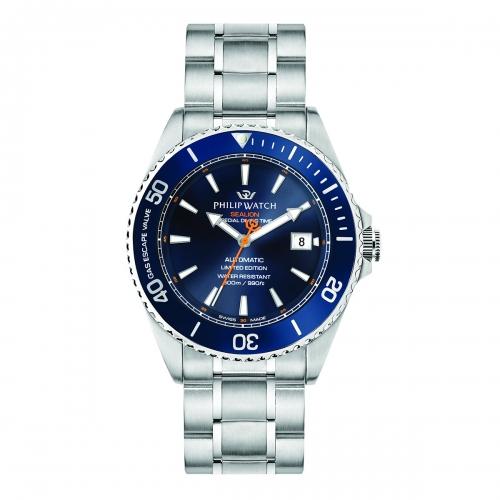 Orologio Philip Watch Sealion Automatico blu 42mm