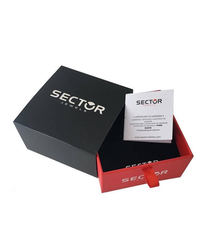 Bracciale Sector Gioielli Energy acciaio oro rosa uomo SAFT04 - galleria 2