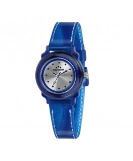 Chronostar Gel 3h silver dial blue silicon