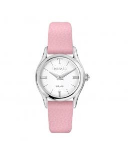 Trussardi T-light 32mm 2h silver dial pink st