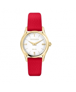 Trussardi T-light 32mm 2h silver dial red st