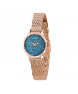 Chronostar Shimmer 32mm 3h blue dial mesh br rg