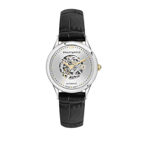 Philip Watch Marilyn auto 31mm 3h silver dial black s